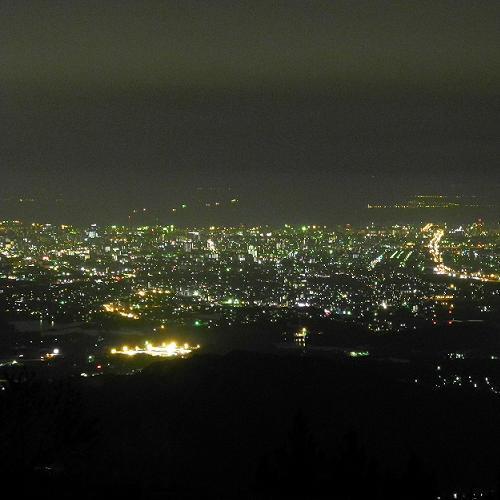 【米の山】展望台より福岡市夜景