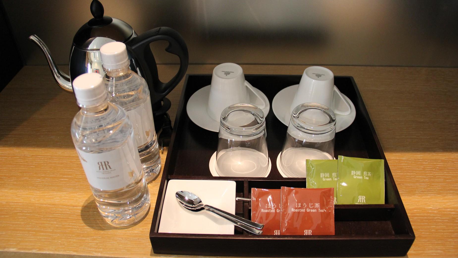 お茶セット、無料ミネラルウォーターを全室にご用意