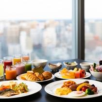 ホテル最上14階からの眺望と自慢の朝食