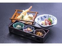 鍋のお供に3点セット(1人前1,150円)前菜・お造り・天ぷら