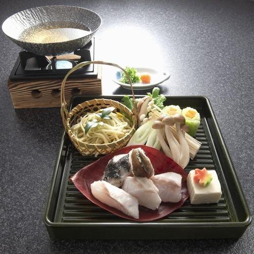 幻の高級魚クエ鍋付会席:クエ小鍋