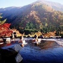 秋の馬曲温泉