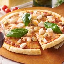 夕食-ピザ