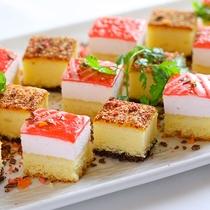 夕食-カットケーキ