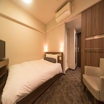 ■クインルーム(19㎡):ベッドサイズ160cm×195cm