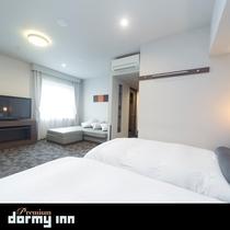 ■デラックスツインルーム 36平米 ベッドサイズ100×195センチ