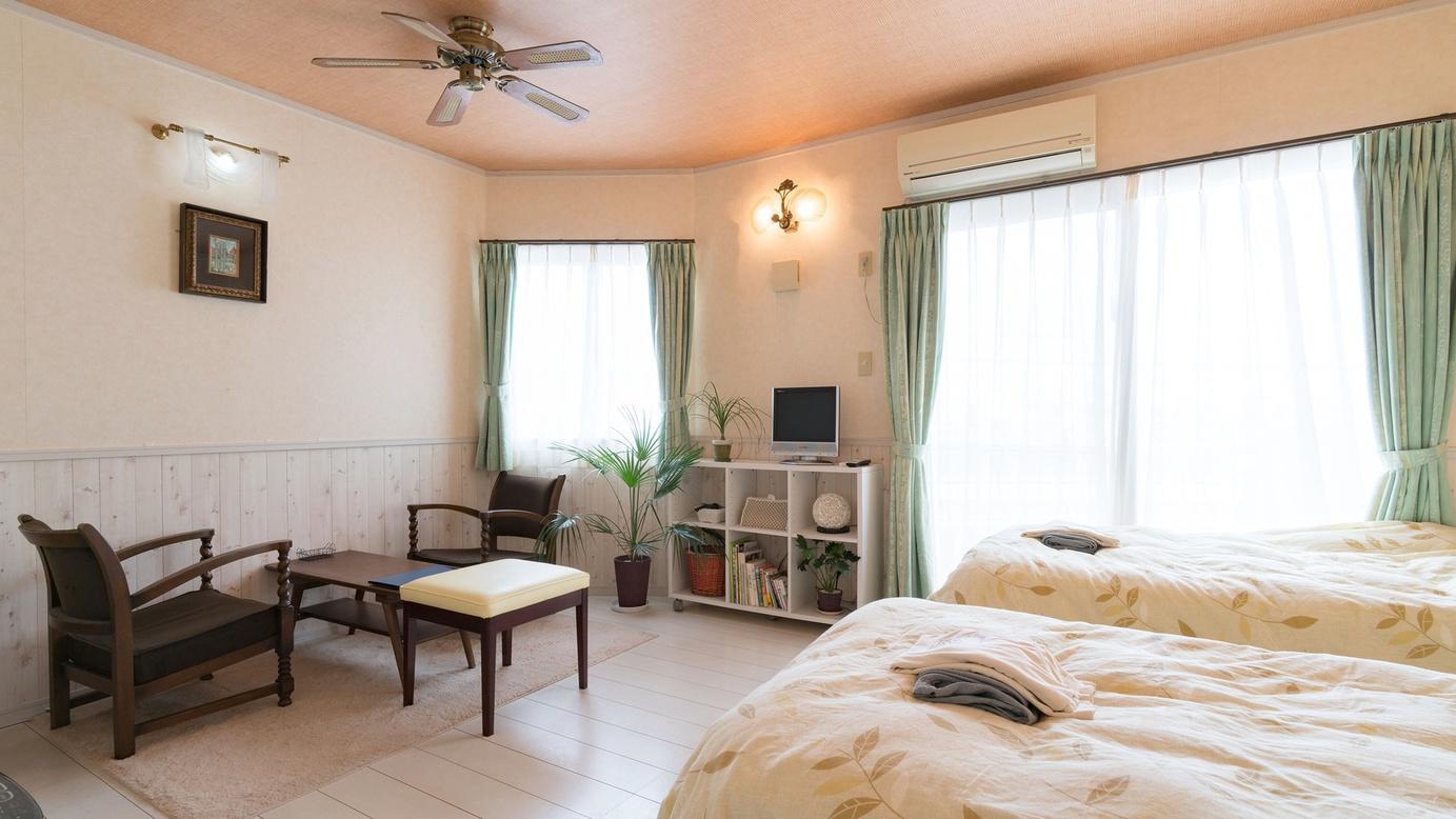 *【部屋/クレタ】地中海風の白を貴重としたカントリーな雰囲気のお部屋。