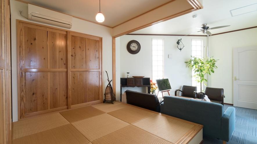*【部屋/マルセイユ】琉球畳の日本間で、沖縄の雰囲気を存分にお楽しみいただけます。