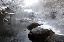 冬の男性専用露天風呂