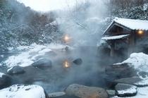 冬の男性専用露天風呂2