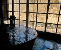 冬客室専用半露天風呂