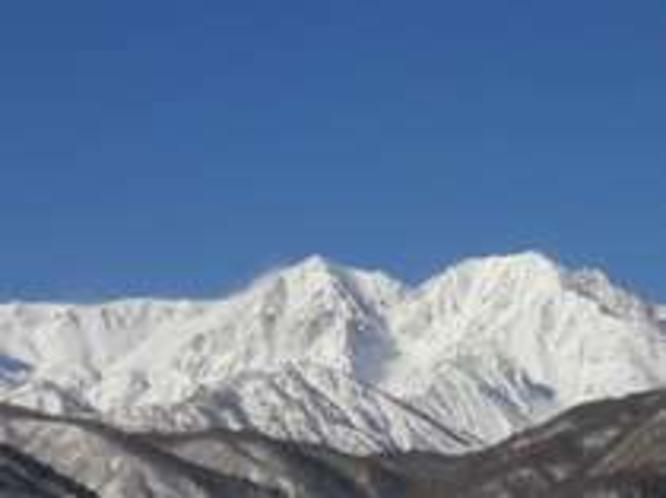 白馬槍ヶ岳と杓子岳
