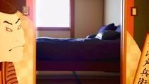 ・純和風なお部屋:畳の間からベッドルームを見たところ