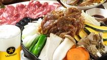 ・京野菜を使ったジンギスカン鍋
