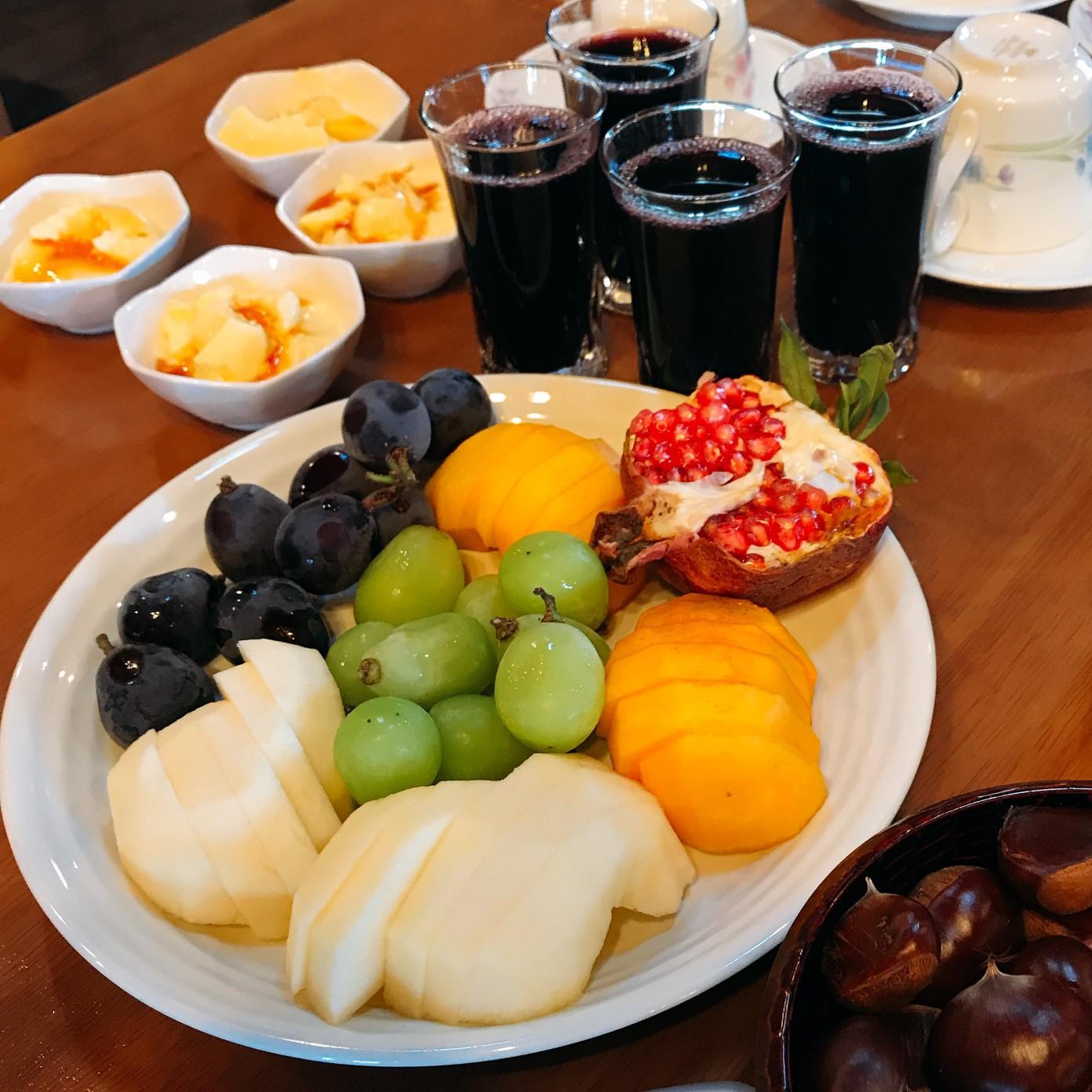 季節の果物、自然の実りをいただきます。