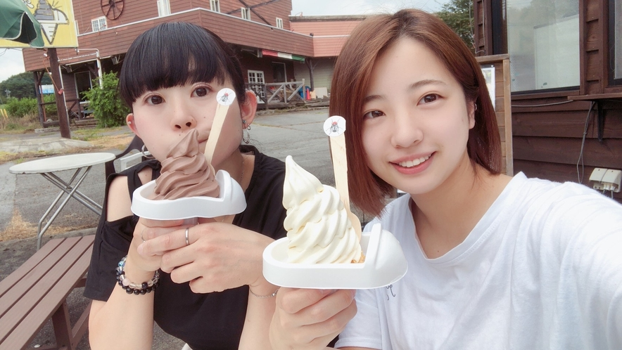 夏のスタッフも大好き!ソフトクリーム
