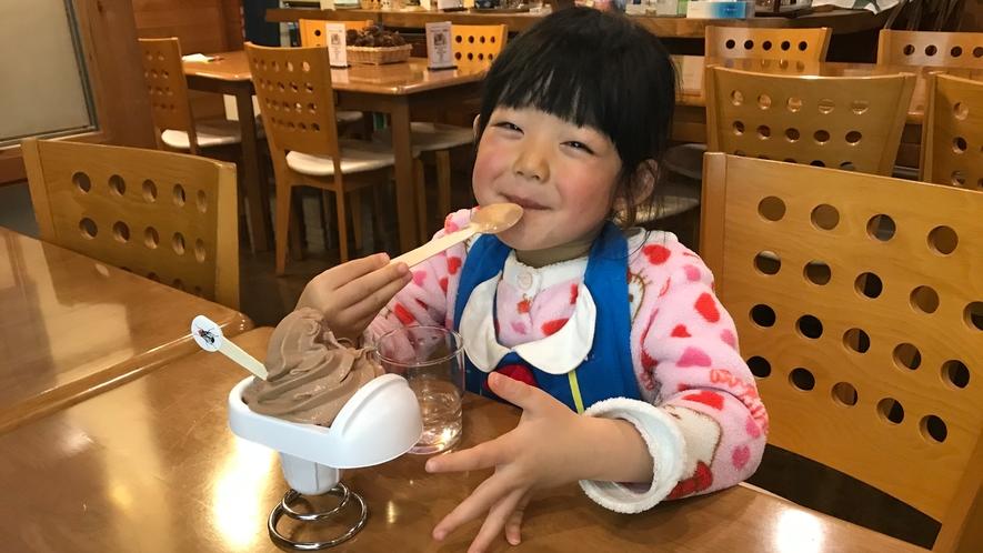 ソフトクリームも美味しいけれど、可愛い笑顔に胸キュン!