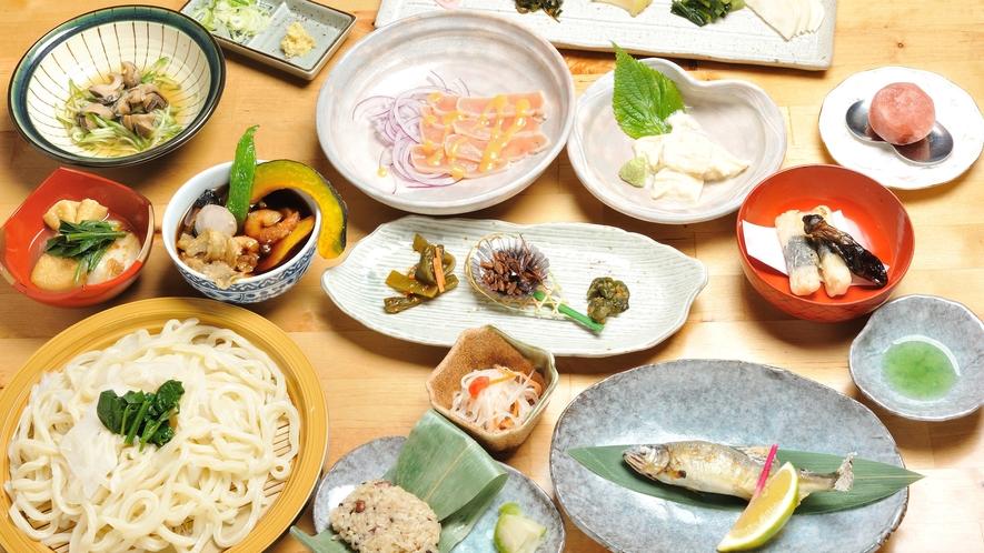 和洋選べる夕食の例(和食)
