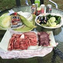 お肉・お野菜、さぁ~食べるよ~