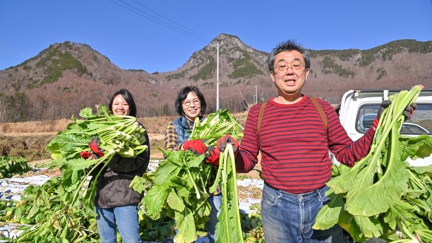 晩秋の一大イベント!野沢菜の収穫
