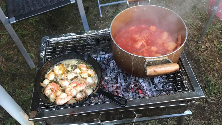 アヒージョと煮込み料理、うまうまです(^-^)