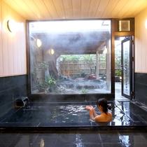 【殿方内湯】大理石内風呂☆高級感のある大理石風呂☆体の芯まで温まります