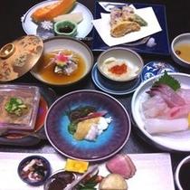 ★旬の海幸・山幸の厳選食材のおまかせの会席