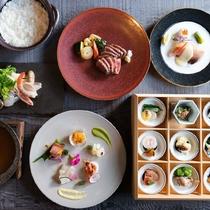 【山家会席】御所別墅の和食文化が神戸の洋食文化と出会って生れた独自の料理です。