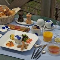【朝食】ボリュームのある洋朝食です。
