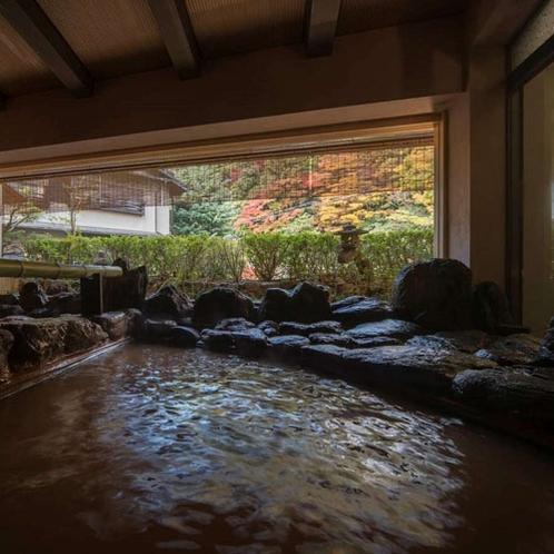 【姉妹館 御所坊の大浴場】当館から徒歩8分。半混浴式の大浴場です。