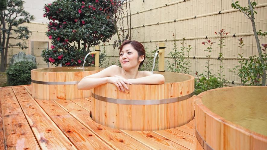 *【温泉】ひのきのたる風呂で自分だけの温泉満喫♪