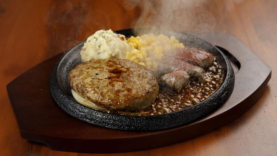 【レストランレッフェル】ハンバーグメインの料理です。
