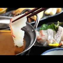 ◆【ご夕食一例・冬季】鯛しゃぶ