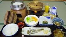 *朝食(一例)新潟の美味しいお米を炊きたてで召し上がれ!