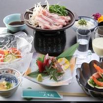 *【2020年夏】7~9月Aコース/豚肉ともやしの陶板蒸し・冷汁ご飯などをご用意