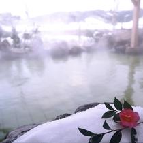 雪景色を眺めながら・・