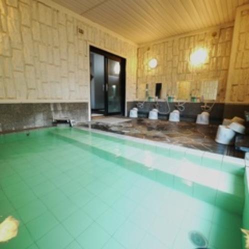 【大浴場】足を伸ばしてゆ~ったりと。活性石人工温泉で一日の疲れを癒してください。