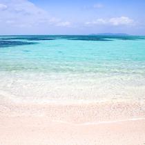 *コンドイビーチ:沖まで砂浜なのでお子様も楽しめます。