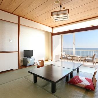 【禁煙】海の見える和室12畳+4.5畳 (バス付))