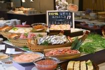 夕食海鮮丼コーナー