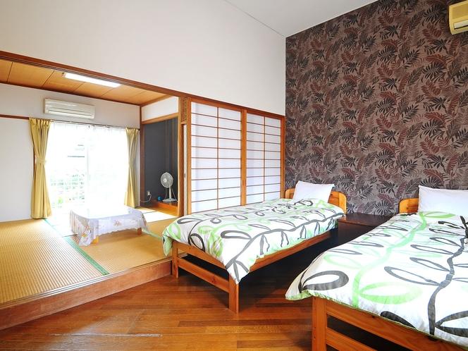 【和洋室2F(ペット可)】最大6名までご利用いただける広々としたお部屋です。