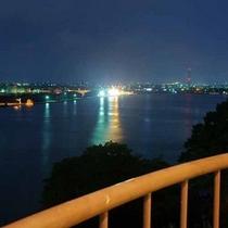海の見えるお部屋からの境港の夜景