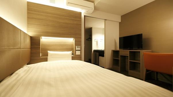 ◆禁煙シングルルーム《セミダブル》◆天然温泉大浴場完備