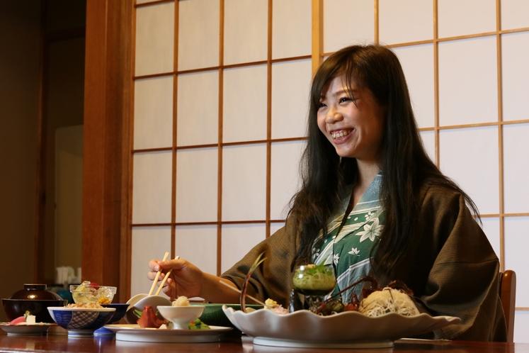 伊豆の新鮮な海の幸でお客様の笑顔をお約束いたします♪