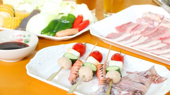 大自然の中で新鮮野菜と牛豚鶏の肉を味わう高原BBQ味と季節を満喫