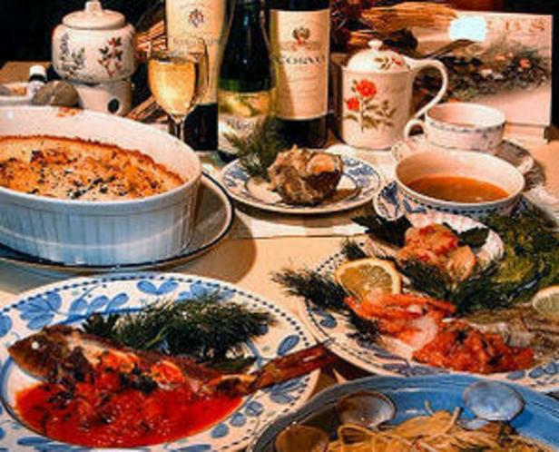 豪華コースのお料理