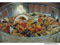 イカと根菜のブイヤベーススパゲティ
