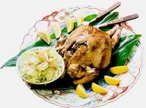 料理(蒸し鶏)
