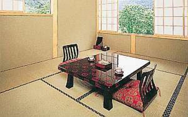 奥飛騨の雄大な自然を窓から楽しめる客室