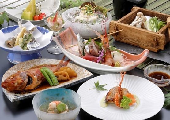 【魚々彩々プラン:夕食のみ】朝食不要の方に!夕食は浜の旬の素材を活かしたお料理/カード利用出来ません
